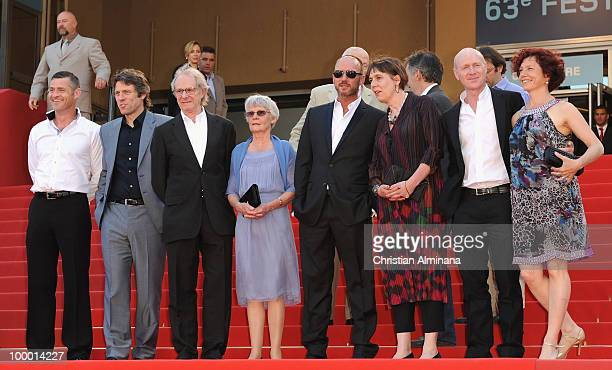 Actor John Bishop Director Ken Loach Lesley Ashton Scandar Copti and screen writer Paul Laverty attend the 'Route Irish' Premiere held at the Palais...