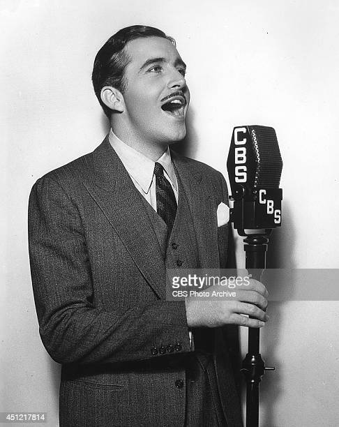 Actor John Boles appears on CBS radio in July 1936 in Los Angeles California