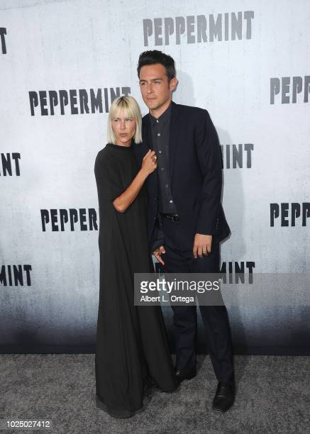 Actor John Boyd and Nicole Vicius arrive for the Premiere Of STX Entertainment's Peppermint held at Stadium 14 on August 28 2018 in Los Angeles...