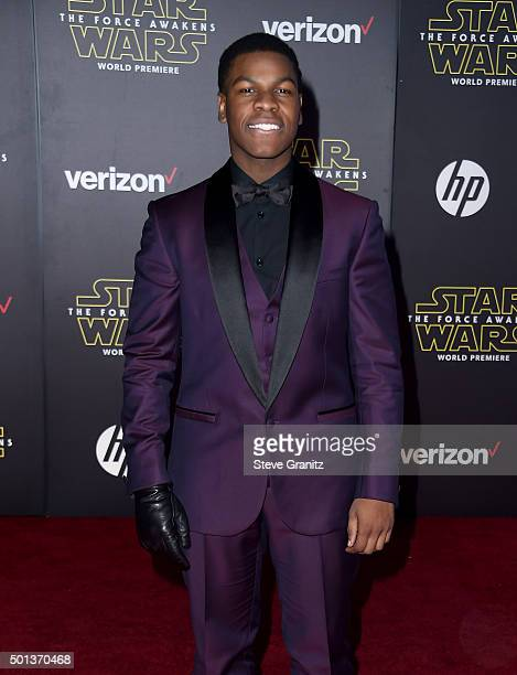 Actor John Boyega arrives at the premiere of Walt Disney Pictures' and Lucasfilm's Star Wars The Force Awakens at the Dolby Theatre TCL Chinese...