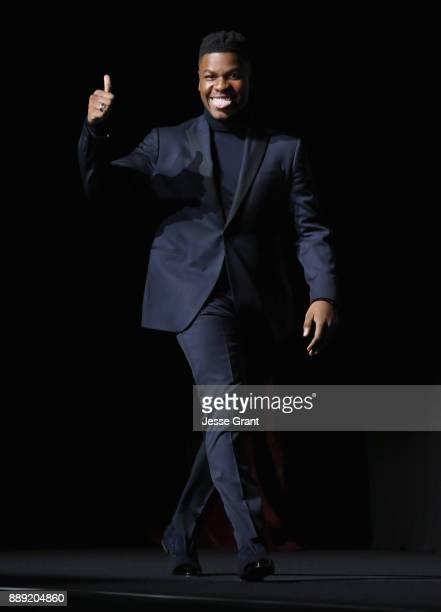 Actor John Boyega at Star Wars The Last Jedi Premiere at The Shrine Auditorium on December 9 2017 in Los Angeles California