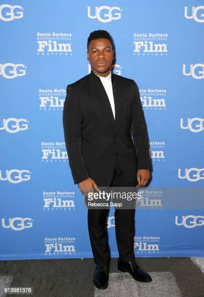 Actor John Boyega at the Virtuosos Award Presented By UGG during The 33rd Santa Barbara International Film Festival at Arlington Theatre on February...