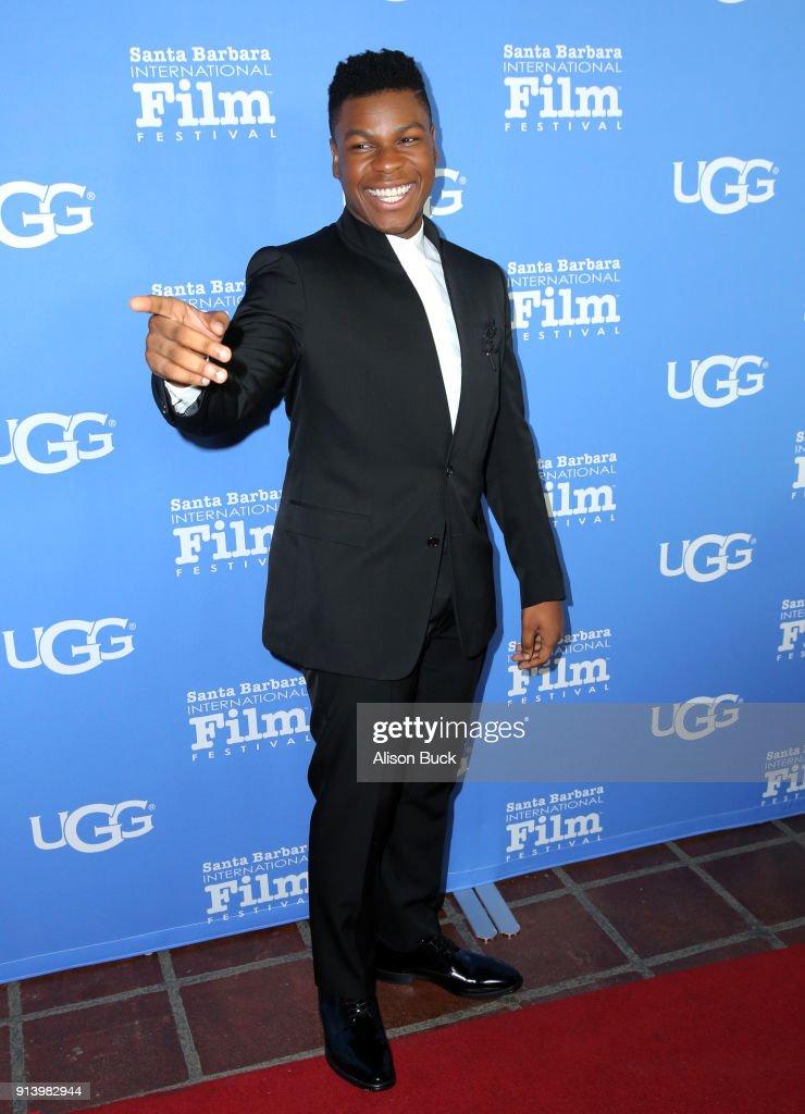 Actor John Boyega at the Virtuosos Award Presented By UGG during The 33rd Santa Barbara International Film Festival at Arlington Theatre on February 3, 2018 in Santa Barbara, California.