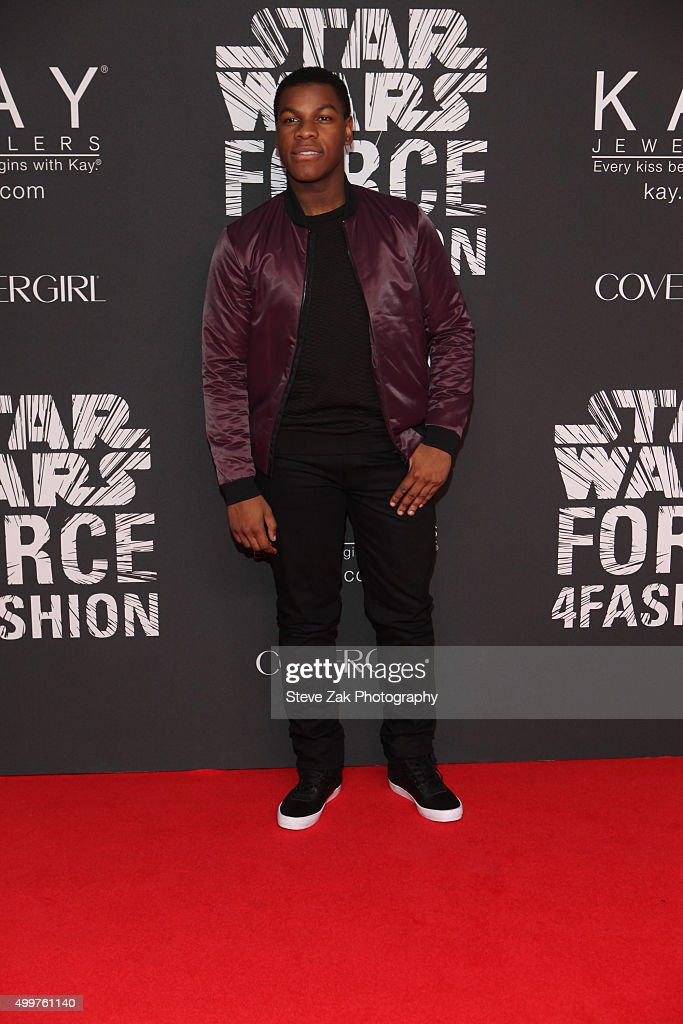 Actor John Boyega attends Star Wars 'Force 4 Fashion' launch event at Skylight Modern on December 2, 2015 in New York City.