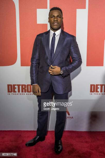 Actor John Boyega attends the Detroit world premiere at Fox Theatre on July 25 2017 in Detroit Michigan