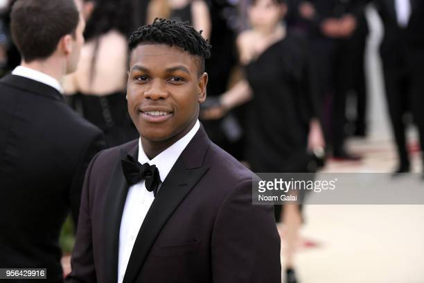 Actor John Boyega attends the Heavenly Bodies Fashion The Catholic Imagination Costume Institute Gala at The Metropolitan Museum of Art on May 7 2018...