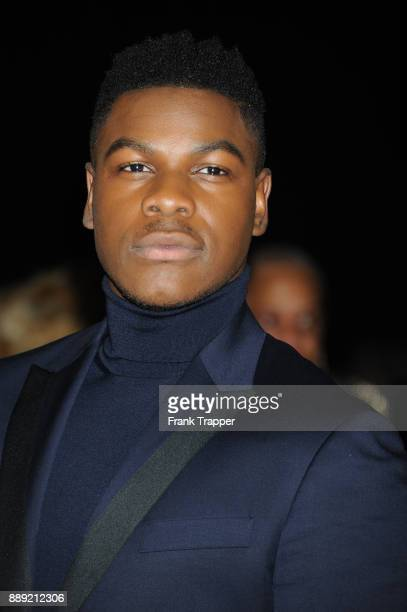 Actor John Boyega attends the premiere of Disney Pictures and Lucasfilm's 'Star Wars The Last Jedi' held at The Shrine Auditorium on December 9 2017...