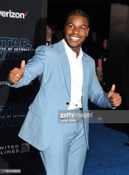 """Actor John Boyega attends the premiere of Disney's """"Star Wars: The Rise of Skywalker"""" on December 16, 2019 in Hollywood, California."""