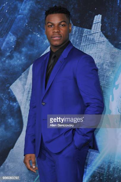 Actor John Boyega attends the premiere of Universal's Pacific Rim Uprising at TCL Chinese Theatre IMAX on March 21 2018 in Hollywood California