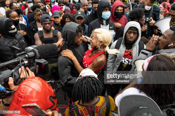 Actor John Boyega is seen in the crowd during a Black Lives Matter protest in Hyde Park on June 03 2020 in London England The death of an...