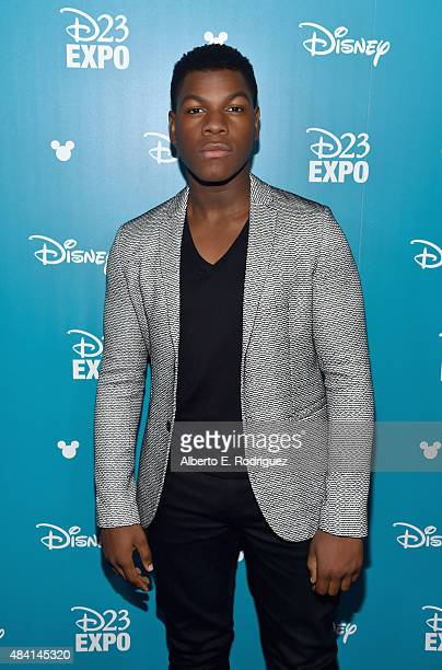 Actor John Boyega of STAR WARS THE FORCE AWAKENS took part today in 'Worlds Galaxies and Universes Live Action at The Walt Disney Studios'...
