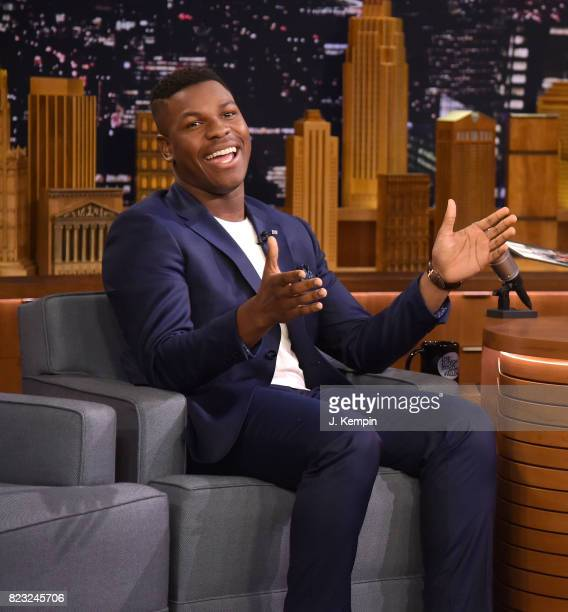 Actor John Boyega visits 'The Tonight Show Starring Jimmy Fallon' at Rockefeller Center on July 26 2017 in New York City