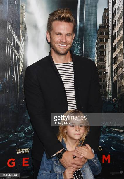 Actor John Brotherton and daughter Saylor Callisto Brotherton attend the premiere of Warner Bros Pictures' 'Geostorm' at the TCL Chinese Theatre on...