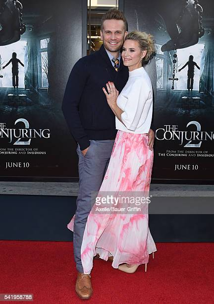 Actor John Brotherton and wife actress Alison Raimondi arrive at the 2016 Los Angeles Film Festival 'The Conjuring 2' Premiere at TCL Chinese Theatre...