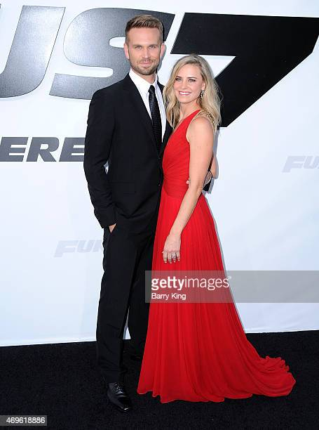 Actor John Brotherton and wife Alison Brotherton arrive at the Los Angeles Premiere 'Furious 7' at TCL Chinese Theatre IMAX on April 1 2015 in...