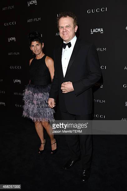 Actor John C Reilly and Alison Dickey attend the 2014 LACMA Art Film Gala honoring Barbara Kruger and Quentin Tarantino presented by Gucci at LACMA...