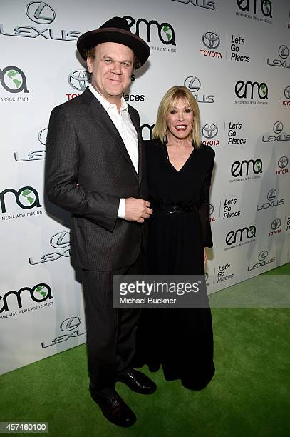 Actor John C Reilly and EMA President Debbie Levin attend the 24th Annual Environmental Media Awards presented by Toyota and Lexus at Warner Bros...