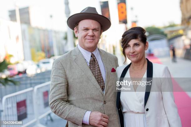 US actor John C Reilly and his wife Alison Dickey attend 'The sisters brothers' premiere during 66th San Sebastian Film Festival at Kursaal on...