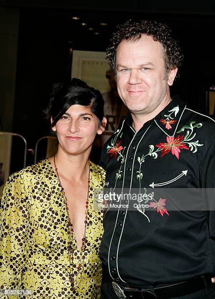 Actor John C Reilly and his wife producer Alison Dickey arrive at the Los Angeles Premiere of the film Borat Cultural Learnings of America for Make...
