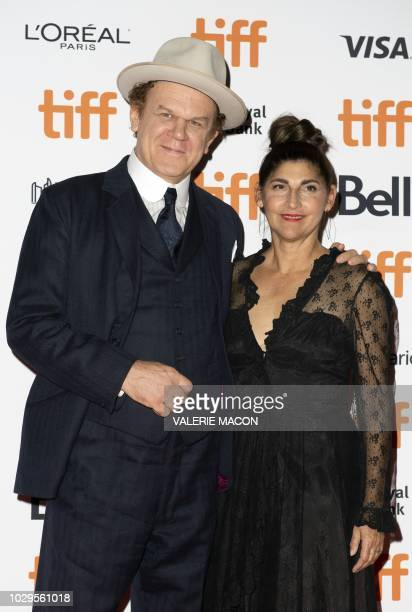 US actor John C Reilly and his wife producer Alison Dickey attend the premiere of The Sisters Brothers during the Toronto International Film Festival...
