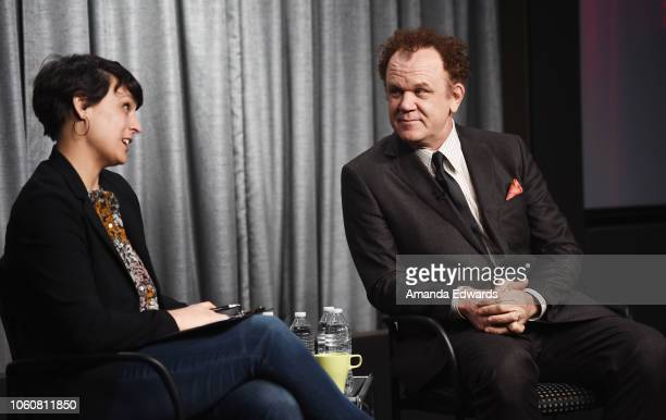 Actor John C Reilly and journalist Stacey Wilson Hunt attend the SAGAFTRA Foundation Conversations Career Retrospective with John C Reilly at the...
