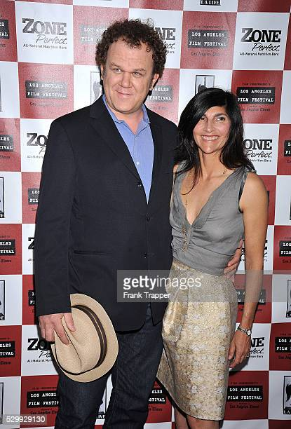 Actor John C Reilly and wife Alison Dickey arrive at the 2010 Los Angeles Film Festival Cyrus Gala Screening held at Regal Cinemas LA Live Stadium 14...