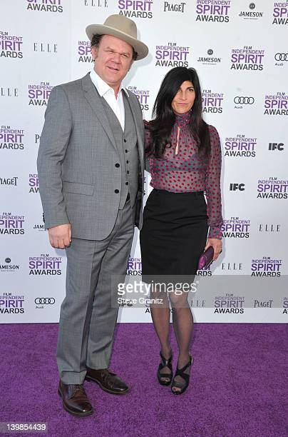Actor John C Reilly and wife Alison Dickey arrive at the 2012 Film Independent Spirit Awards at Santa Monica Pier on February 25 2012 in Santa Monica...