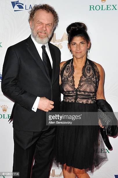 Actor John C Reilly and wife Alison Dickey attend Los Angeles Philharmonic's 2016/17 Opening Night Gala Gershwin and the Jazz Age at Walt Disney...