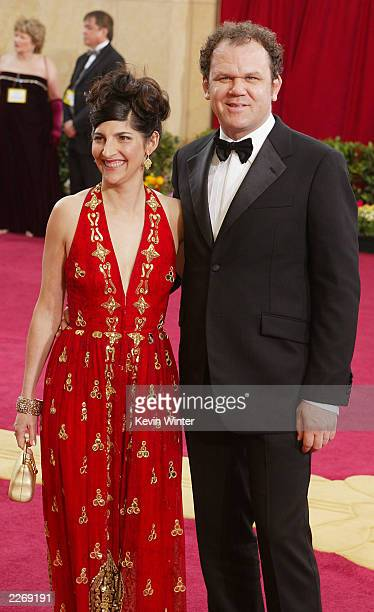 Actor John C Reilly and wife Alison Dickey attend the 75th Annual Academy Awards at the Kodak Theater on March 23 2003 in Hollywood California