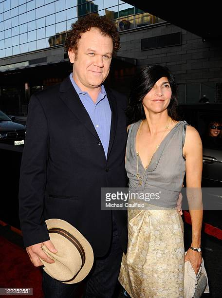 """Actor John C. Reilly and wife Alison Dickey attend the """"Cyrus"""" gala screening during the 2010 Los Angeles Film Festival held at Regal Cinemas at LA..."""