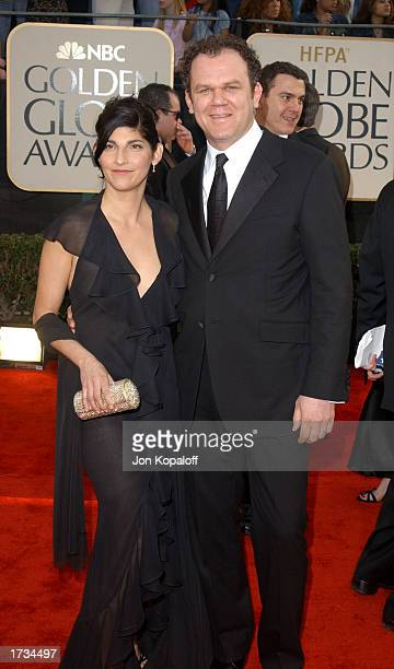 Actor John C Reilly and wife attend the 60th Annual Golden Globe Awards at the Beverly Hilton Hotel on January 19 2003 in Beverly Hills California
