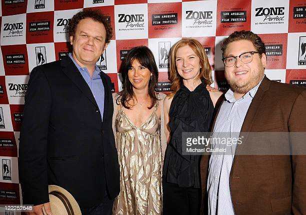 Actor John C. Reilly, LA Film Festival Director Rebecca Yeldham, Film Independent Executive Director Dawn Hudson and actor Jonah Hill attend the...