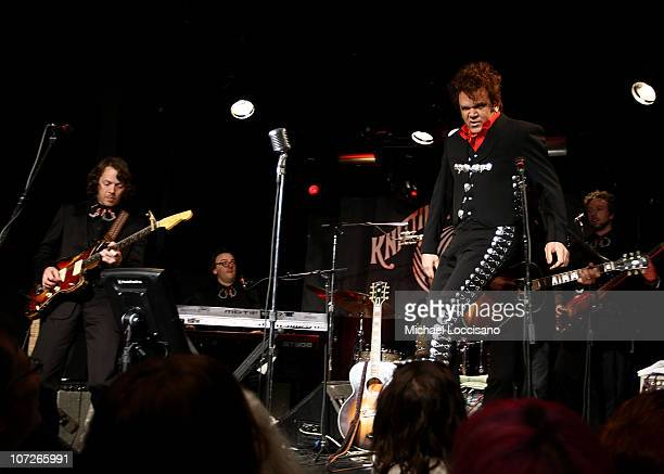 Actor John C Reilly performs as Dewey Cox with his band The Hard Walkers at The Knitting Factory in New York City on December 19 2007