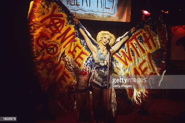 Actor John Cameron Mitchell performs in a scene from the film Hedwig and the Angry Inch