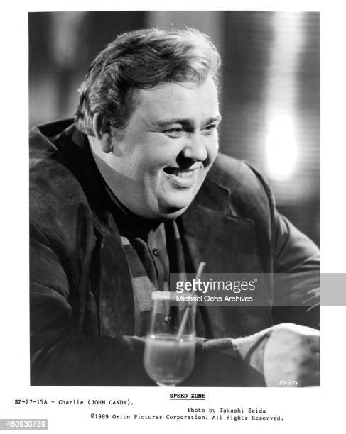 Actor John Candy in a scene from the movie Cannonball Fever circa 1989