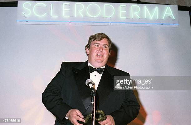 Actor John Candy receives the Founders Award from the Scleroderma Research Foundation at the 4th annual foundation's benefit dinner on June 09 1991...