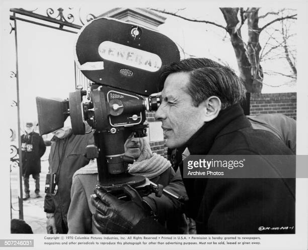 Actor John Cassavetes behind the camera directing the movie 'Husbands' with Columbia Pictures 1970