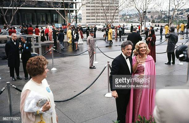 Actor John Cassavetes with his wife actress Gena Rowlands arrive to the 47th Academy Awards at Dorothy Chandler Pavilion in Los AngelesCalifornia