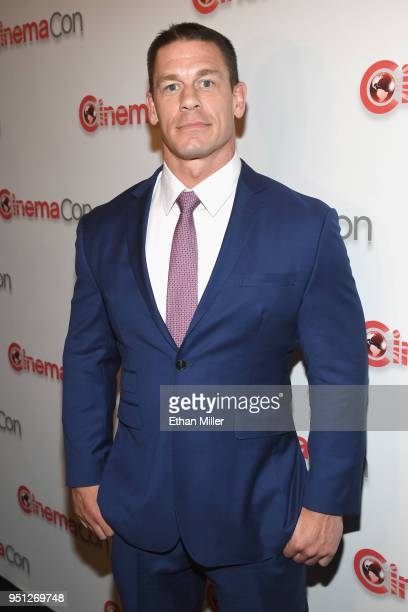 Actor John Cena attends the CinemaCon 2018 Paramount Pictures Presentation Highlighting Its Summer of 2018 and Beyond at The Colosseum at Caesars...