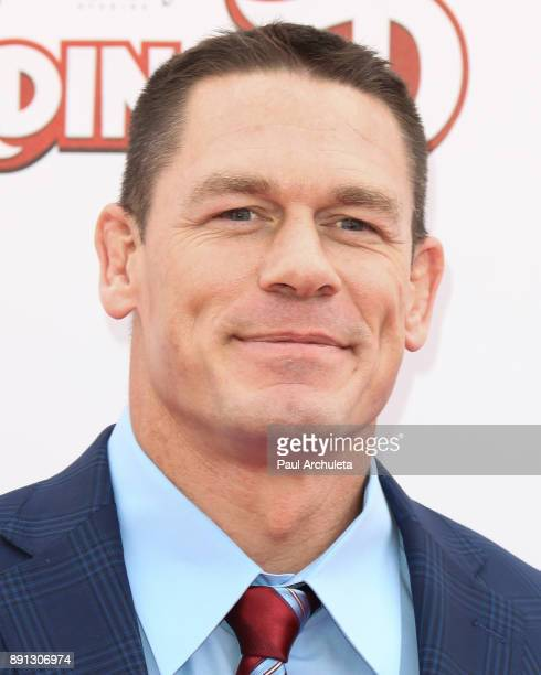 Actor John Cena attends the screening of 'Ferdinand' at The Zanuck Theater at 20th Century Fox Lot on December 10 2017 in Los Angeles California
