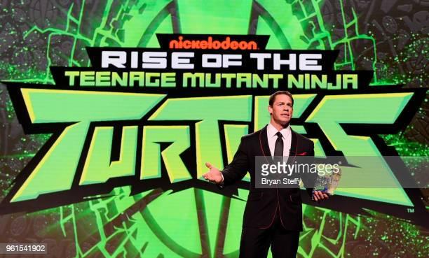 Actor John Cena speaks during Nickelodeon's presentation at Licensing Expo 2018 at Mandalay Bay Resort and Casino on May 22 2018 in Las Vegas Nevada