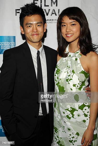 "Actor John Cho and actress Grace Park arrive at the premiere of ""West 32nd"" at the 2007 Tribeca Film Festival on April 28, 2007 in New York City."