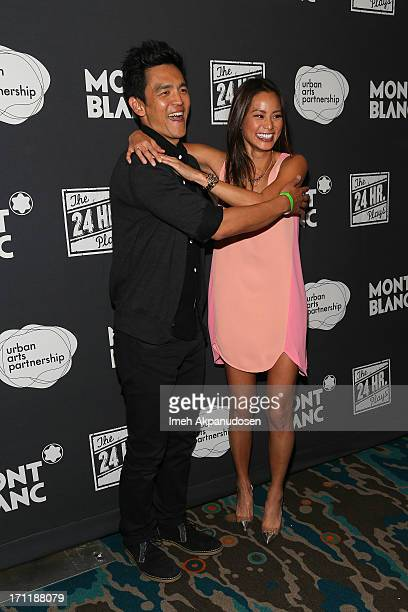 Actor John Cho and actress Jamie Chung attend the after party for the 3rd Annual 24 Hour Plays in Los Angeles presented by Montblanc at The Shore...
