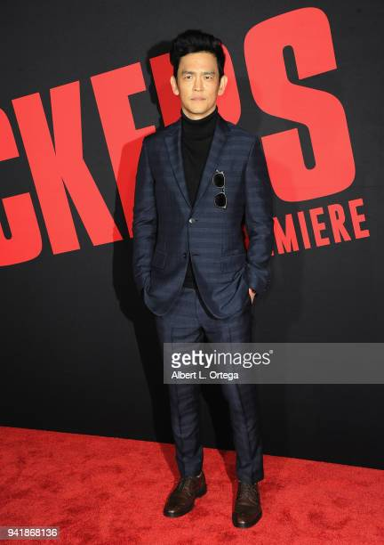 Actor John Cho arrives for the Premiere Of Universal Pictures' 'Blockers' held at Regency Village Theatre on April 3 2018 in Westwood California