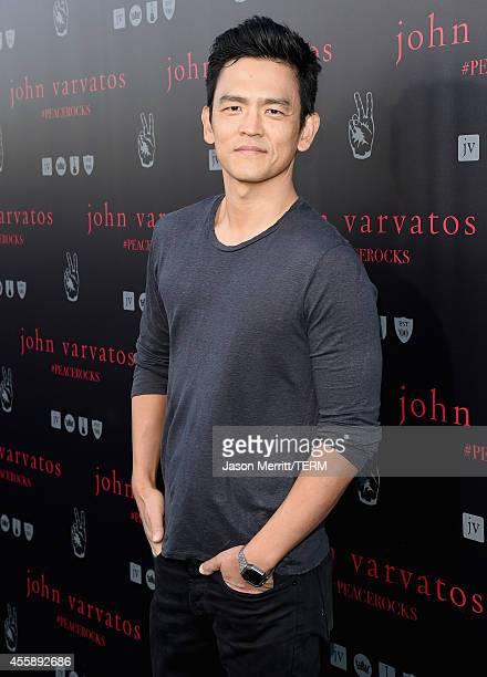 Actor John Cho attends John Varvatos' International Day of Peace Celebration with a special performance by Ringo Starr His All Starr Band at the John...