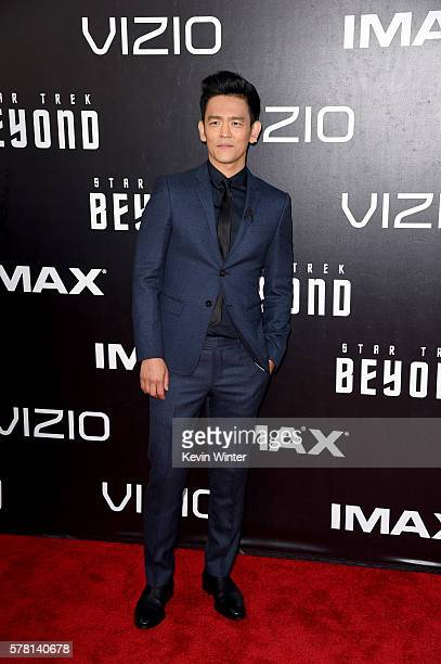 Actor John Cho attends the premiere of Paramount Pictures' Star Trek Beyond at Embarcadero Marina Park South on July 20 2016 in San Diego California
