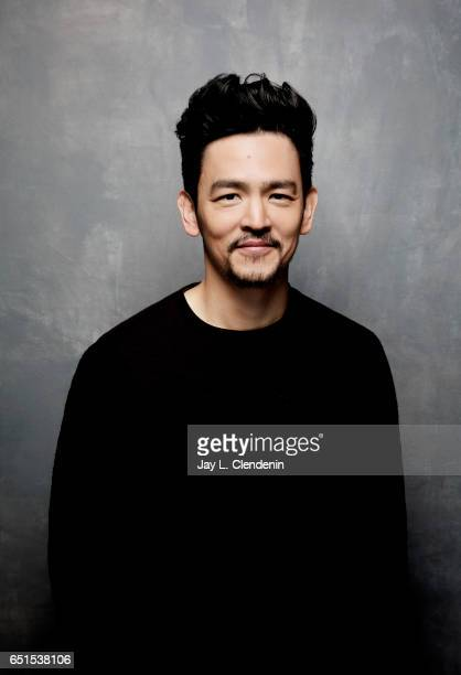 Actor John Cho from the film Columbus is photographed at the 2017 Sundance Film Festival for Los Angeles Times on January 22 2017 in Park City Utah...