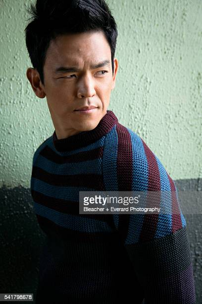 Actor John Cho is photographed for Agusut Man on April 12 2012 in Los Angeles California Styling Michael Cioffoletti Grooming Scott Barnes All...