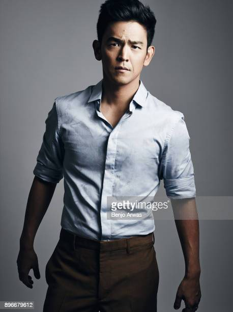 Actor John Cho is photographed for The Fashionisto on August 13 2014 in Los Angeles California
