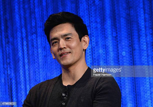 Actor John Cho on stage at The Paley Center for Media's PaleyFest 2014 Honoring Sleepy Hollow at Dolby Theatre on March 19 2014 in Hollywood...